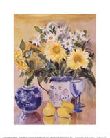 Sunflowers and Blue China Fine-Art Print