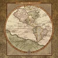 Damask World Map I Fine-Art Print