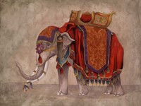 Ceremonial Elephants I Fine-Art Print