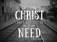 Need Christ Fine-Art Print