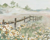 Fence with Flowers Fine-Art Print