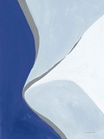 Retro Abstract III Blue Fine-Art Print