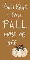 I Love Fall Most of All Fine-Art Print