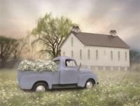 Blue Ford at Barn Fine-Art Print