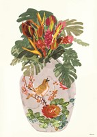Tropical Vase I Fine-Art Print