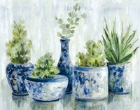 Chinoiserie Plants Bright Fine-Art Print