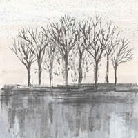 Trees at Dawn II Neutral Fine-Art Print