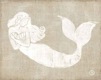 On the Waves II Burlap Fine-Art Print
