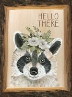 Hello There Raccoon Fine-Art Print