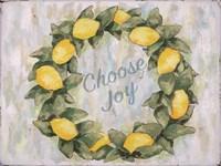 Choose Joy Lemon Wreath Fine-Art Print