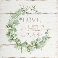 Love Help Care Fine-Art Print