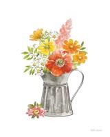 Farmhouse Floral VII White Fine-Art Print