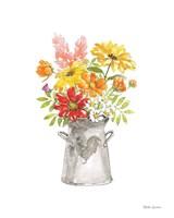 Farmhouse Floral VI White Fine-Art Print