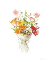 Farmhouse Floral V White Fine-Art Print