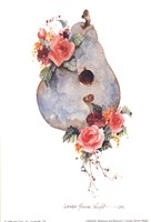 Birdhouse and Blossoms I Fine-Art Print
