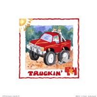 4 X 4 Truckin Fine-Art Print