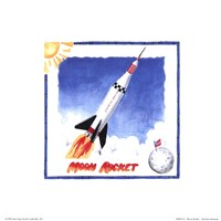 Moon Rocket Fine-Art Print
