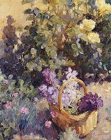 Basket with Flowers Fine-Art Print