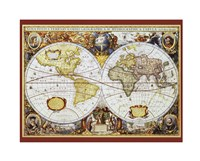 Map of the World III Fine-Art Print