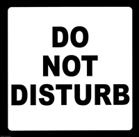 Sign - Do Not Disturb Fine-Art Print