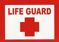 Sign - Life Guard Fine-Art Print