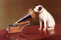 His Master's Voice Advertisement Fine-Art Print