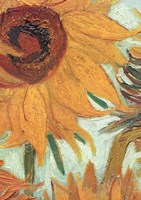 Vase with Twelve Sunflowers, .c1888 (detail) Fine-Art Print