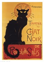 Tournee Du Chat Noir (Yellow Background) Fine-Art Print