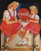 Coca-Cola Young Girls Fine-Art Print