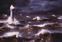 Lighthouse And Waves, South Africa Fine-Art Print