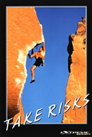 Take Risks - Extreme Sport Wall Poster