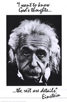 Einstein-God's Thoughts Wall Poster