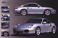 Porche 911 Turbo Silver Wall Poster