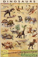 Dinosaurs Timeline Fine-Art Print