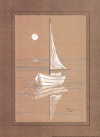 White Sailboat Fine-Art Print
