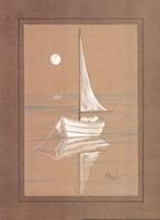 White Sailboat Fine-Art Print