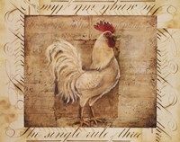 Rustic Farmhouse Rooster I Fine-Art Print