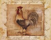 Rustic Farmhouse Rooster II Fine-Art Print