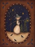 Snowman Lantern Fine-Art Print