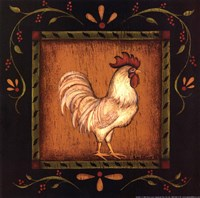 Square Rooster Right Fine-Art Print