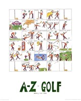 A-Z of Golf Fine-Art Print
