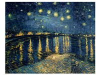 Starry Night over the Rhone, c.1888 Fine-Art Print