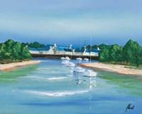 Port Breton - Voiliers Blancs Fine-Art Print