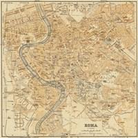 Mapa Di Roma, 1898 Fine-Art Print