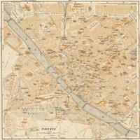 Mapa Di Firenze, 1896 Fine-Art Print