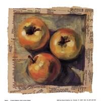 3 Yellow Apples Framed Print