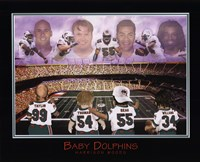 Baby Dolphins - Williams, Seau, Thomas, & Taylor Fine-Art Print