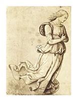 Sepia Woman Dancing Fine-Art Print