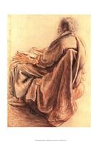 Sepia Man Reading Fine-Art Print