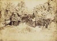 Sepia Corot Landscape Fine-Art Print